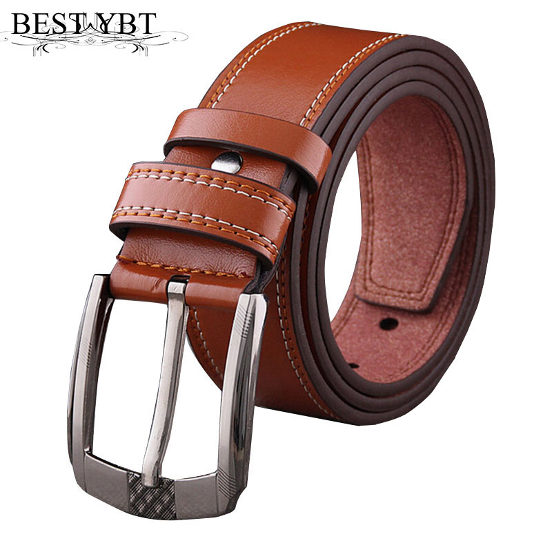Best YBT Men Imitation Leather Soft Belt Alloy Pin Buckle Belt Fashion Student Youth Casual Vintage Jeans Men Business Belt