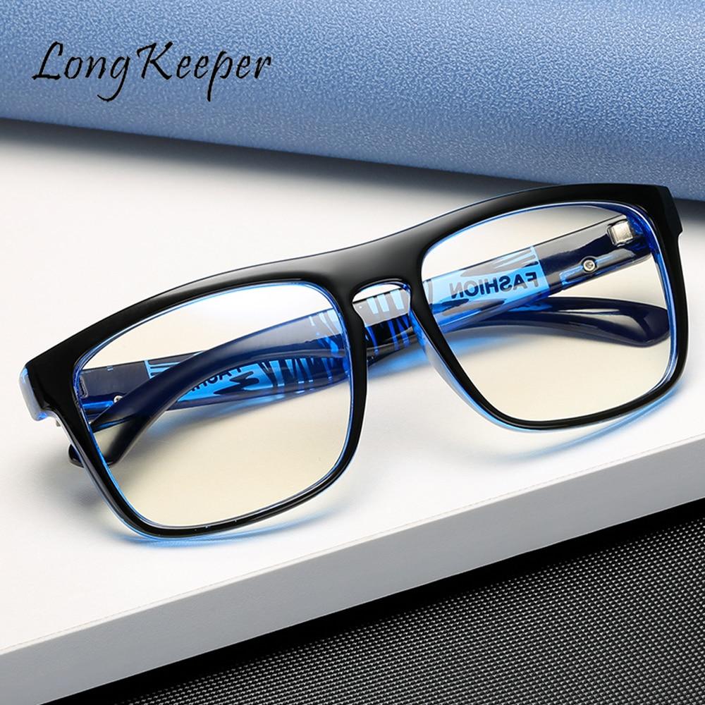 LongKeeper Anti Blue Light Computer Glasses For Men Clear Eyewear Frames Blue Light Blocking Glasses Optical Gaming Eyeglasses 1