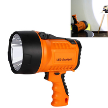 10W Rechargeable Spotlight USB Charging Searchlight Emergency Work Light Tactical Handheld LED Maintenance Flashlight