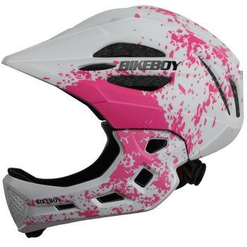Casco de chico BIKEBOY, bicicleta de montaña Mtb, protección desmontable para niños, casco de Ciclismo de cara completa