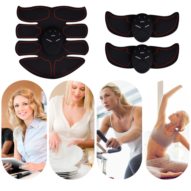 EMS Muscle Training Stimulator Device Body Slimming Massager Abdominal Wireless EMS Gym Professinal Home Fitness Beauty Gear 2