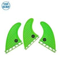 Плавники для серфинга g5 зеленые сотовые плавники из стекловолокна