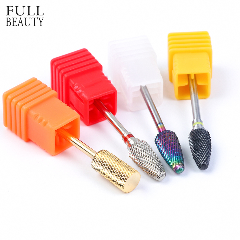 4 Types Diamond Nail Drill Bit Electric Milling Cutter For Machine Manicure Pedicure UV Gel Polish Mills Accessories CHZL01-04
