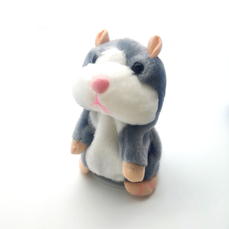 15cm Talking Hamster Mouse Pet Children Plush Toy Cute Speak Talking Sound Record Hamster Educational Toy For Boys/Girls Gifts