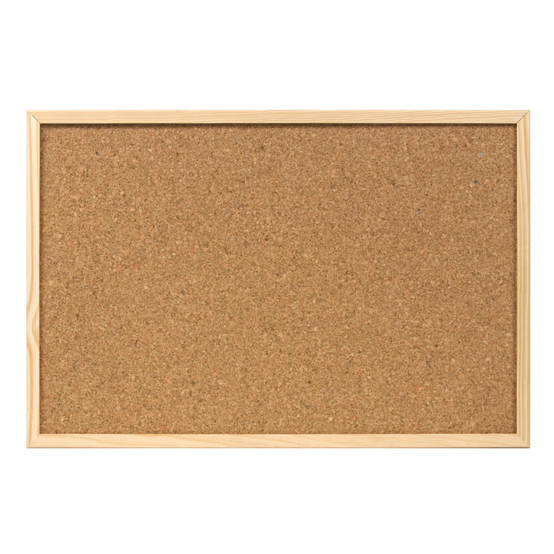 DHP-cork Board with wood frame <font><b>120x60</b></font> cm image