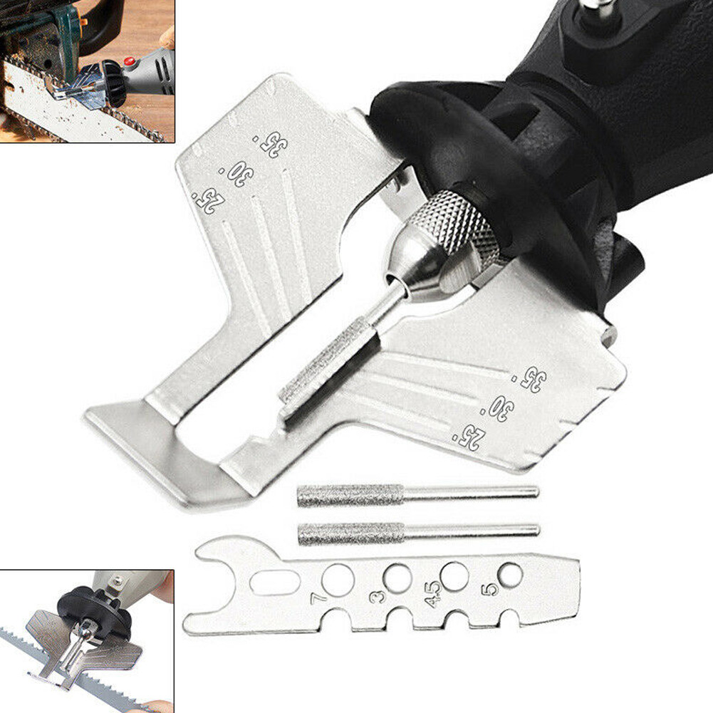 Chain Sharpening Teeth Kit Chainsaw Sharpener Saw Power Grinding Tool TN88