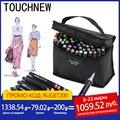TOUCHNEW 30/40/60/80/168 цветов набор маркеров для живописи спиртовая основа для рисования манга дизайнерские художественные принадлежности