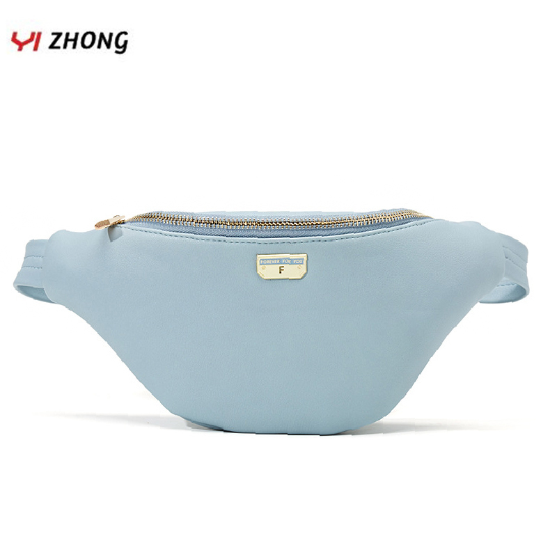 YIZHONG Fashion Luxury Leather Pink Fanny Pack Large Capacity Waist Bag Chest Bag For Women Sports Multi-functional Belt Bag