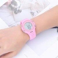Reloj Led rosa para niñas, cronómetro para el aire libre, relojes digitales luminosos Led para niños, regalo de cumpleaños