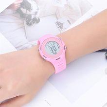 Roze Led Horloge Voor Meisjes Kinderen Outdoor Stopwatch Led Lichtgevende Digitale Horloges Voor Kinderen Verjaardagscadeau