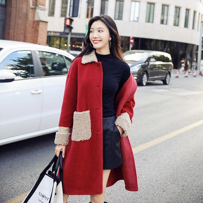 Fur Real Coat Autumn Winter Jacket Women Sheep Shearling Fur Jackets For Women Clothes 2020 Long Coat Manteau Femme MY S