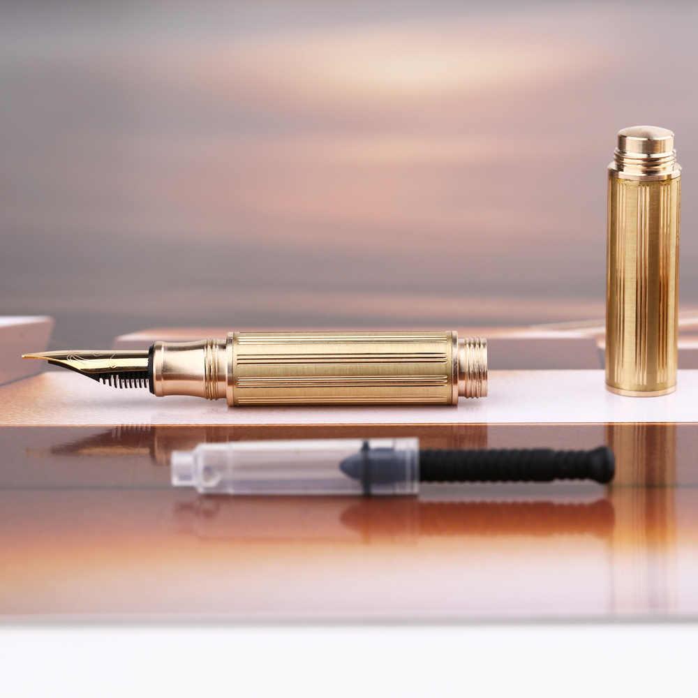 Moonman Three Sections Mini Metal Fountain Pen Travel Pocket Size F Nib Ink Pen