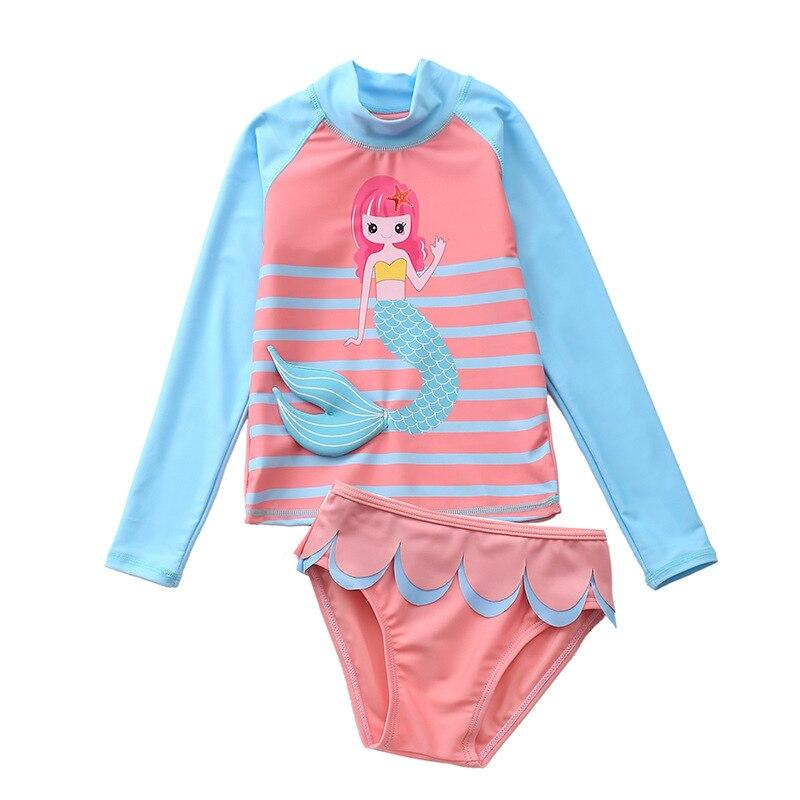 Детские купальные костюмы новинка 2020 комплект из двух предметов
