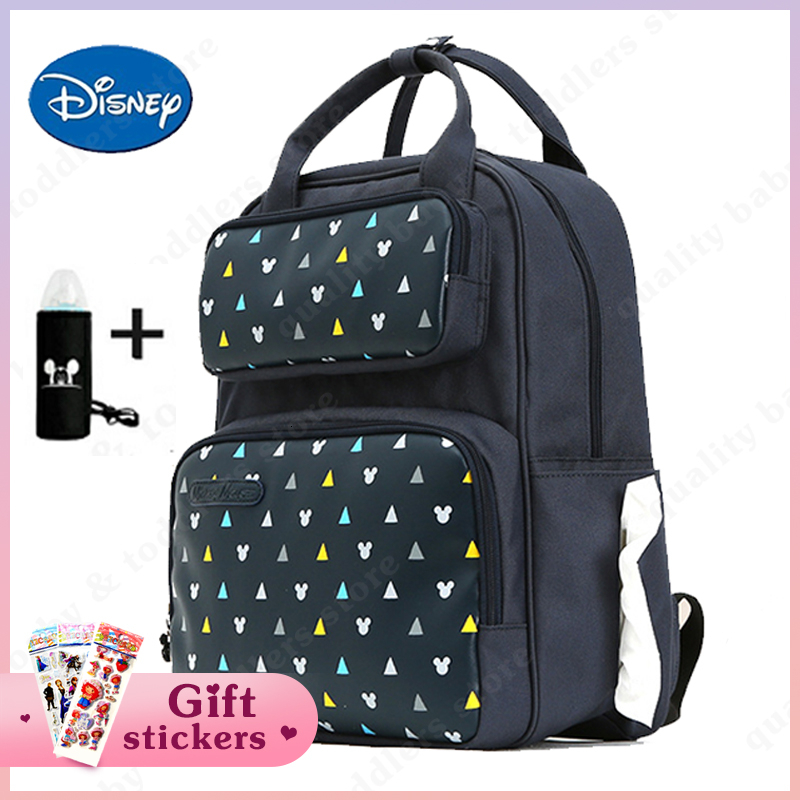 Disney Fashion Diaper Bag Comfortable Mommy Travel Backpack Large USB Charge Backpack Maternity Baby Care Nursing Diaper Bags