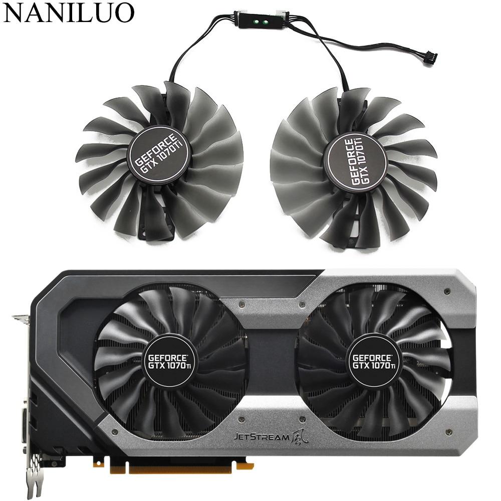 GAA8S2U для Palit GTX 1070Ti 1070 Ti GPU VGA альтернативный охлаждающий вентилятор для GeForce GTX1070 Ti Jetstream вентилятор