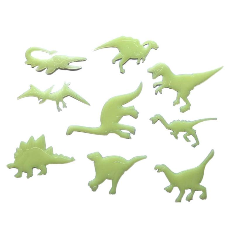 9pcs/set Glow In The Dark Dinosaurs Decals Room Window Wall Ceiling Luminous Stickers  Room Bedroom Ceiling Home Decor