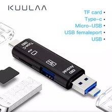 KUULAA todo en uno tipo C USB 3,0 adaptador Micro USB SD/Micro SD/TF lector de tarjetas OTG Android ordenador lector de tarjetas de memoria externa