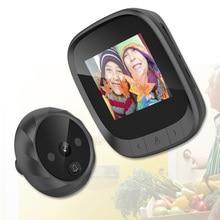 2.4 인치 LCD 컬러 스크린 디지털 초인종 90도 도어 아이 초인종 전자 틈 구멍 카메라 뷰어 야외 도어 벨