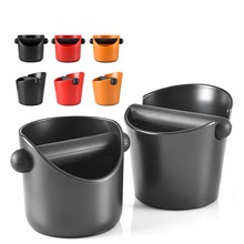 Coffee Knock Box Shock-absorbent Espresso Waste Bin With Handle Coffee Grounds Container Coffee Grind Knock Box Residue original detachable plastic coffee knock box residue bucket grind waste bin with rubber bar brand new