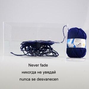 Image 5 - TPRPYN Hilo de ganchillo para tejer leche, 1 pieza = 50g 95M, hilo de punto de algodón suave y cálido, hilo de línea de punto hecho a mano, Alfombra de costura