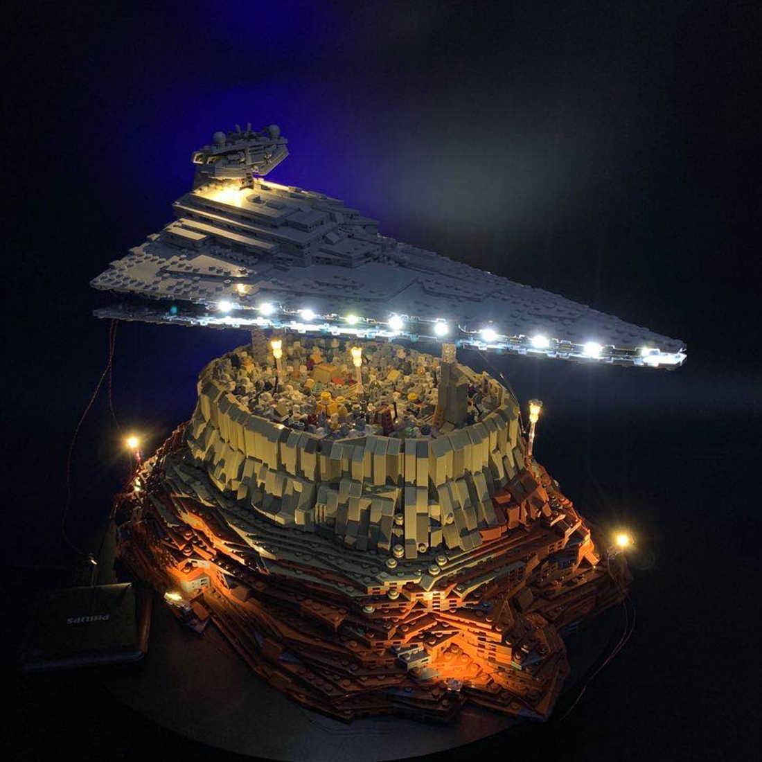 Kit di Illuminazione A LED Per Moc La Empire Corso Jedha Città Dell'impero Modello di Astronave (LED Incluso Solo, no Kit) Per I Bambini Giocattoli Per Bambini