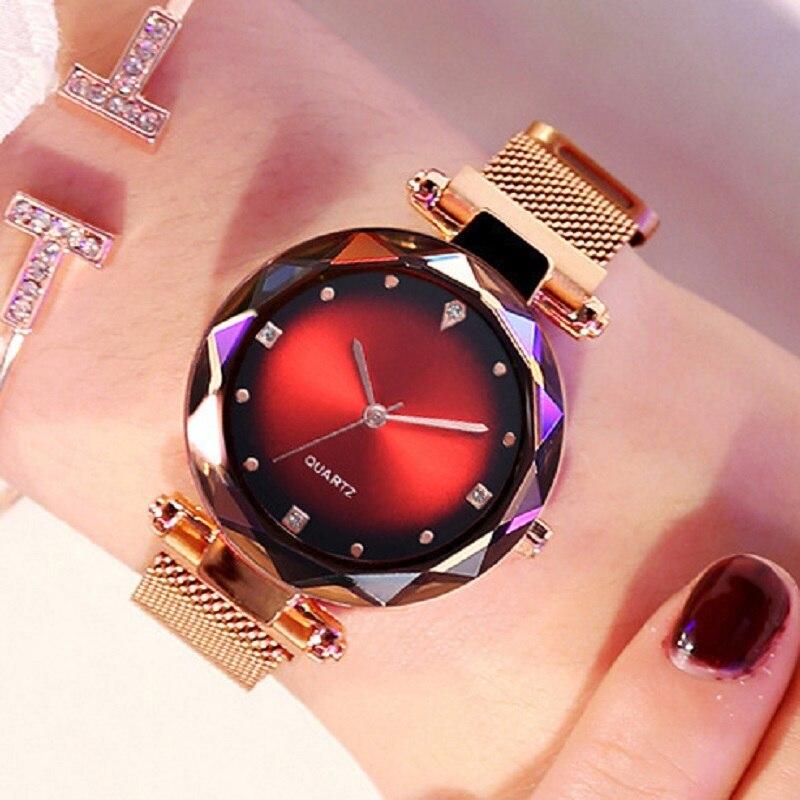 Relogio Feminino Ladies Magnetic Starry Sky Clock Luxury Women Watches Fashion Diamond Female Quartz Wristwatches Zegarek Damski
