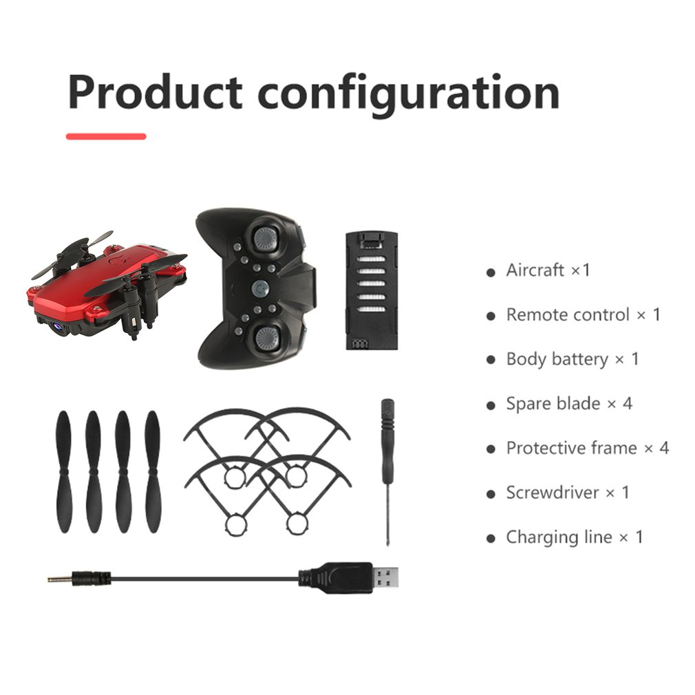 Mini Foldable WiFi FPV RC Drone with HD Camera RC Helicopter Aircraft Altitude hold Aerial Video Toys For Kid
