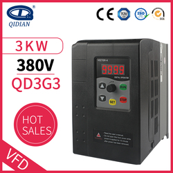 QD350 frequency of 380v 3 phase 3kw Mini VFD Variable Frequency Drive Converter for Motor Speed Control Frequency Inverter