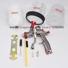 Spray-Gun Mixing-Cup LVLP Airbrush-1.3mm Paint Manual 600CC Craftsmen No-Clean Suitable-For