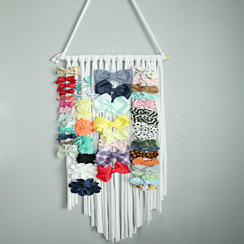 2019 Girls Storage Organizer Strip Hair Clips Headwear Organizing Strip Hanger Wall Hair Bows Storage Belt Girl Hair Accessories