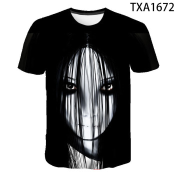 2020 New Boy Girl Kids Movie The Grudge Fashion Men Women Children Summer 3D Printed T Shirt Casual Short Sleeve Cool Tops Tee image