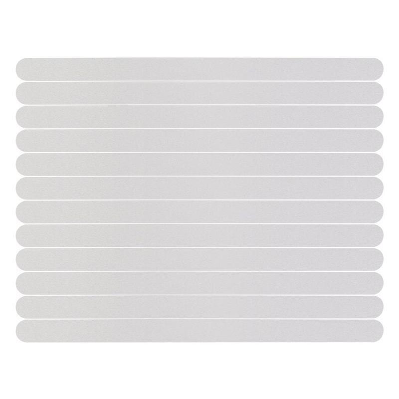 6/12/24pcs Anti-Slip Strips Shower Floor Stickers Bath Safety Strips Transparent Non Slip Tape For Bathtubs Stairs 2cm X 20cm