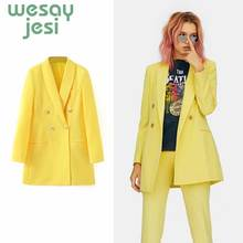 Autumn Women solid Blazers and Jackets Work Office Lady Suit Slim Double Breasted Business Female Blazer Coat Female long blazers casual solid double breasted women blazer and jackets feminino work office lady notched flap pocket business blaser