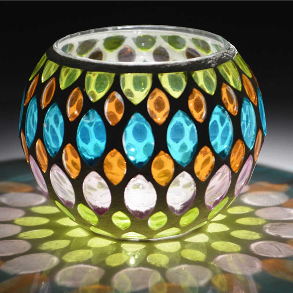Mosaico de vidrio transparente con forma redonda de Color combinado, de 100g, para manualidades DIY, fabricación de mosaicos, rompecabezas para niños, arte, arte, piedra transparente