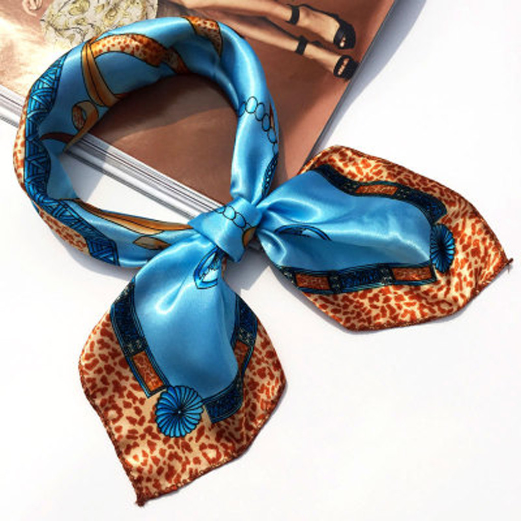 Fashion Women Print Square Head Hair Scarf Wraps Scarves Ladies Printed Kerchief Neck Scarf Bandana Women Foulard Scarves