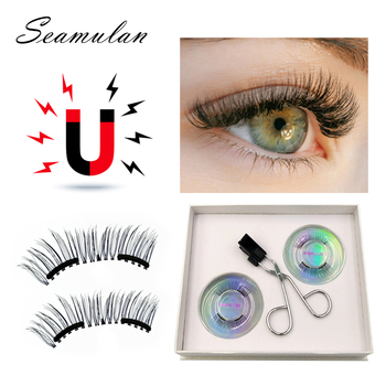 Magnetic Eyelashs set Magnet  No Glue Full Eye Reusable Fake Eyelashes Natural Soft Extension Eyelash