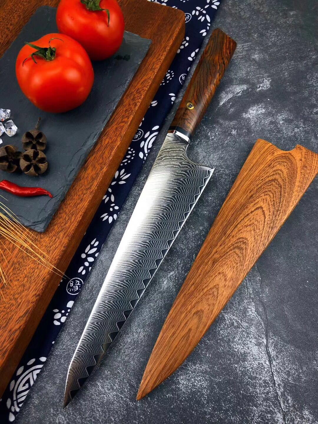 Utility Knife 67 layers VG10 Damascus Stainless Steel Japan Chef Knife Kitchen Cook Knives Best Quality Ebony handle