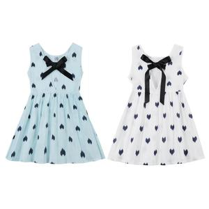 Cute Girls Summer Dress Kid Sleeveless Casual Pageant Heart Pattern Party Princess Dresses Children's Clothing Dropshipping
