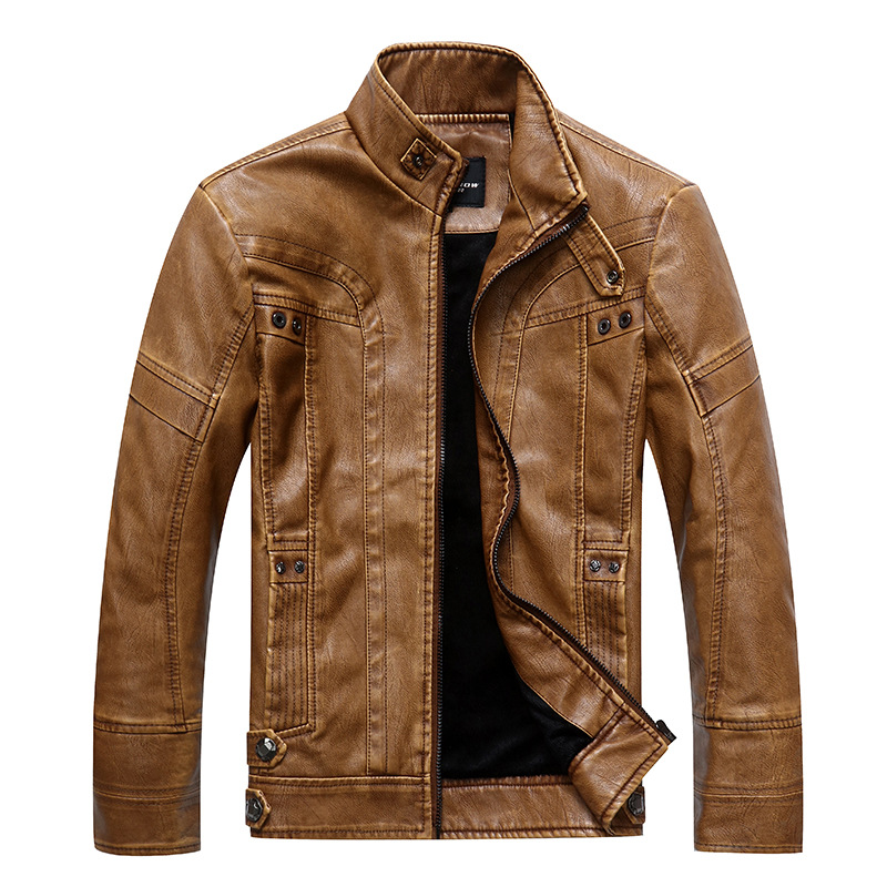 men's brand motorcycle leather jacket riverdale jaqueta de couro masculina men basic jackets cosplay genuine leather coat image