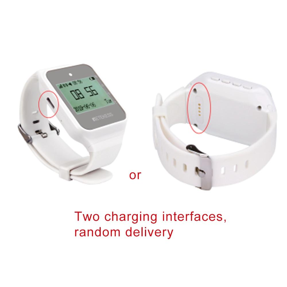 Retekess TD108 Multi-sprache Uhr Empfänger Wireless Kellner Anruf Restaurant Pager Ausrüstung Für Fabrik Zahnarzt Klinik