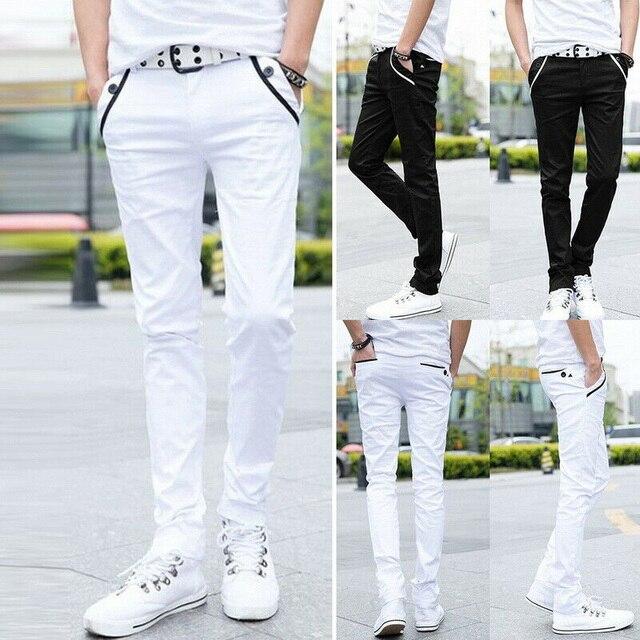 Comfy Stretch Pants Jeans Men color: Black|White
