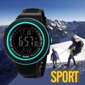 50MWaterproof Men Women Digital Watch LED Sport Watch Glass Dial Silicone Wristwatch reloj deportivo hombre reloj @5