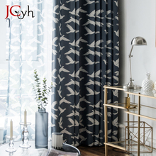 Modern Bird Blackout Curtains For Bedroom Window Living Room Tend Drapes Blind Cortina 100% Shading