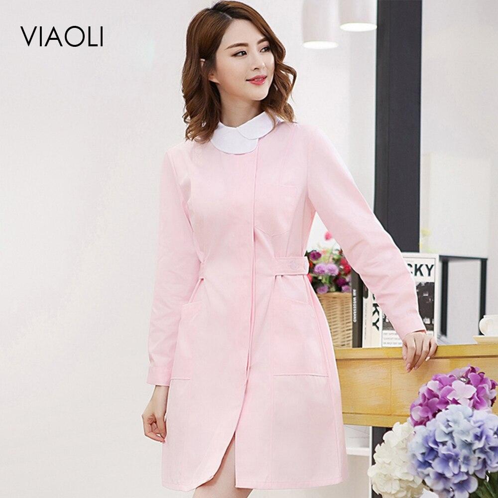 VIAOL Hospital Works Wear Medical Coats Nursing Uniforms Beauty Hospital Nurse Clinical Medical Scrubs Uniform Beauty Salon