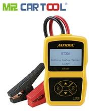 Mr Cartool BT360 автомобильный аккумулятор тестер анализатор цифровой 12 в авто для затопленных AGM гель BT-360 автомобильный аккумулятор s анализатор CCA