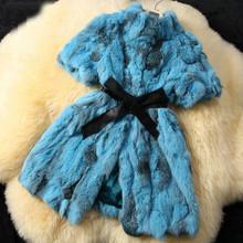 Naturalne kobiety New Arrival prawdziwy królik prawdziwe kamizelki płaszcz futrzany na zimę Plus rozmiar z paskiem F02 tanie tanio TH (pochodzenie) Lato Futra królika Mieszanki wełny Futro Na co dzień Grube ciepłe futro Wieku 16-28 lat MANDARIN COLLAR