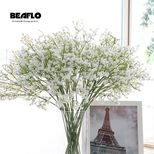1pc Artificial Baby's Breath Flower Gypsophila Fake Silicone plant for Wedding Home Hotel Party Decoration 5 Colors 1