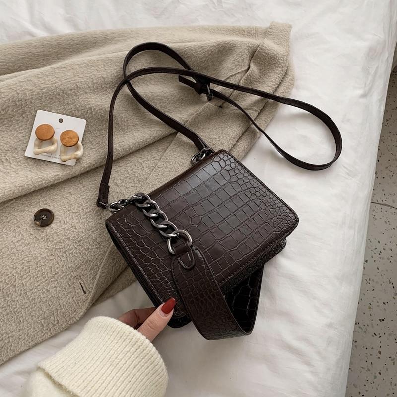 Stone Pattern Women Bag 2020 New Shoulder Bag Fashion Messenger Bag Chain Bag Ladies Handbag Women Bag Bag Casual Women Bag
