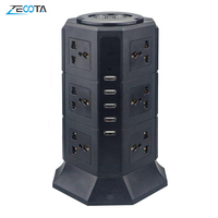 USB Power Streifen Vertikale 8/12 EU/UK/US/AU Elektrische Stecker Universal Outlet Steckdosen Ladegerät Surge Protector 6,6 ft/2m Verlängerung Kabel