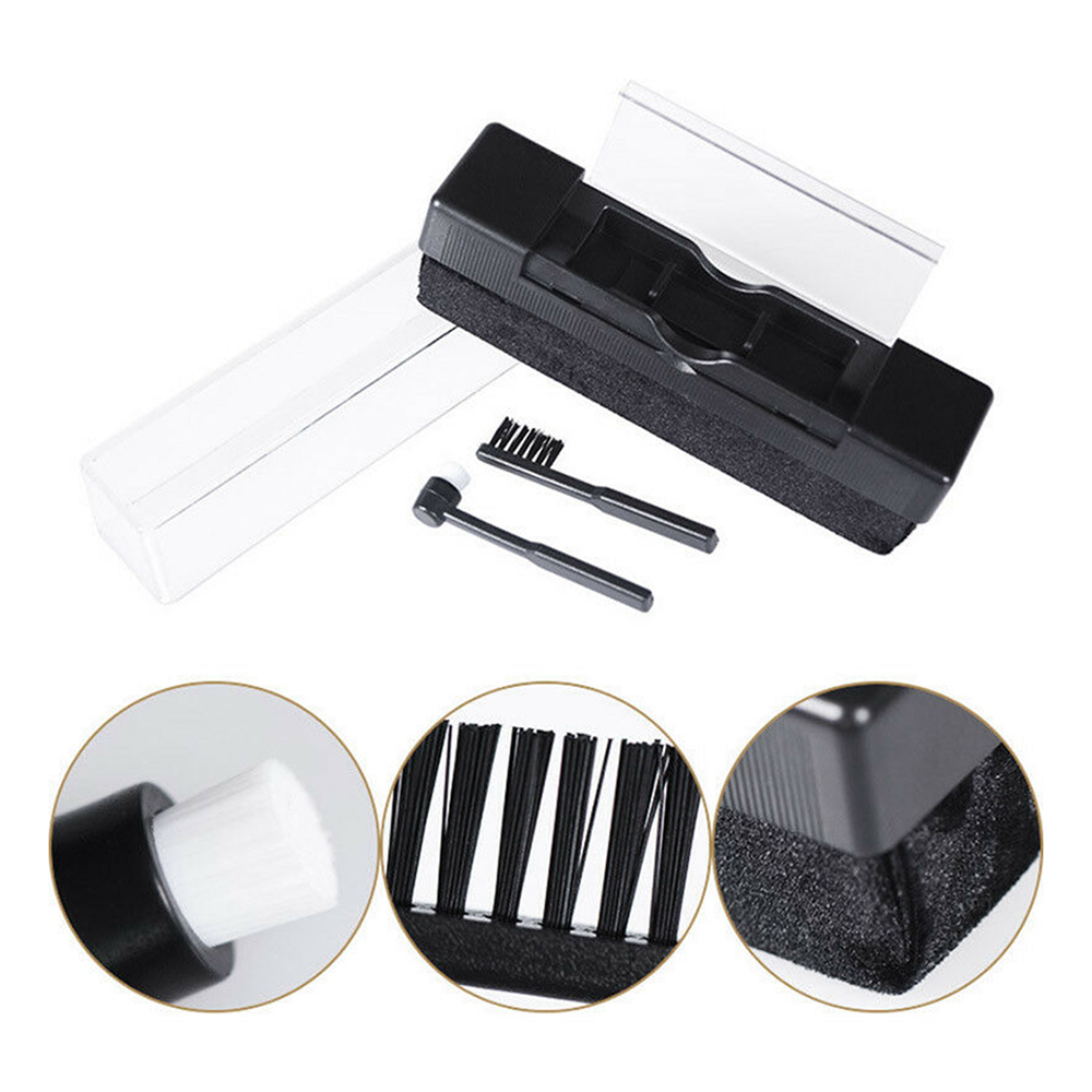 Vinyl Records Handle Carbon Fiber DuPont Brush Cleaning Scrubbing Brush For Turntable LP Phonograph Records Longplay #SD